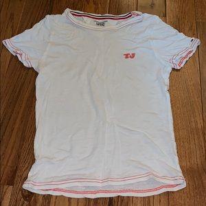 NWOT Tommy Jeans White TJ Crop Top